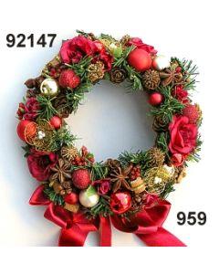Kranz Rosen-Weihnachten / gold-weinrot / 92147.959