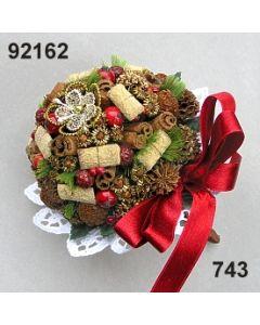 Himbeer-Bouquet / grün-rot / 92162.743