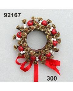 Nelken-Apfel-Kranz / rot / 92167.300
