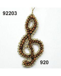 Nelkenornament Notenschlüssel / gold / 92203.920