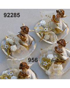 Engel klein auf Herz / gold-creme / 92285.956