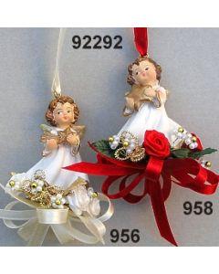 Poly Engel klein zum Hängen dekoriert / 92292