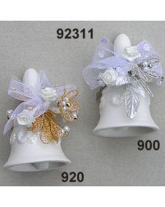 Porzellan Tisch-Glockerl dekoriert  / 92311