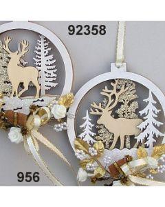 Holz Winterwald Motiv Deko / gold-creme / 92358.956