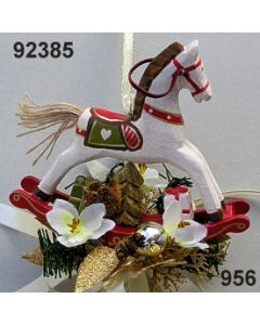 Holz-Schaukelpferd dekoriert / 92385