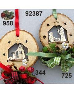Holz Scheiben Motive dekoriert  / 92387