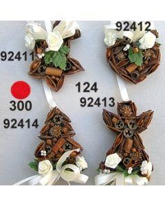 Gewürzbehang Herz klein dekoriert  / 92412