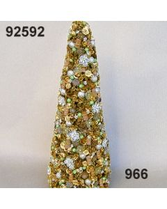 Rosen-Sternanis Kegel XL / gold-grün / 92592.966