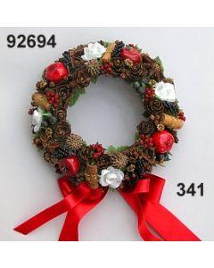 Apfel-Zimt Kranz klein / rot-creme/ 92694.341