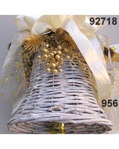 Reben Glocke weiß dekoriert  / 92718