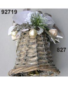Korb Glocke klein dekoriert / graubraun / 92719.827