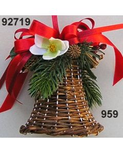 Korb Glocke klein dekoriert  / 92719