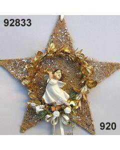 Sisal-Bux Stern mit Engel / gold / 92833.920
