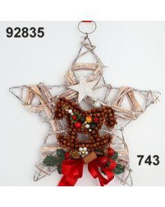 Natur-metall Stern mit Nelken Schaukelpferd / grün-rot / 92835.743