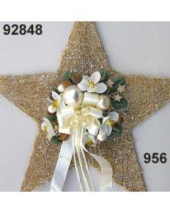 Sisal-Stern XL dekoriert / gold-creme / 92848.956
