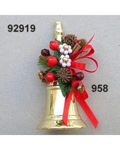 Messing Tischglocke Apfeldekoration / gold-rot / 92919.958