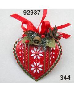 Metall Herz geprägt / rot-grün / 92937.344