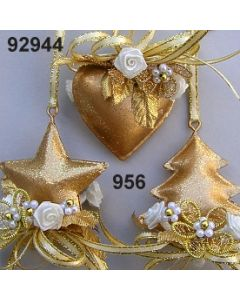 Metall Stern & Herz & Baum klein / gold-creme / 92944.956