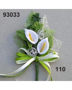 Calla mit Silber Anstecker / weiß / 93033.110