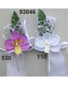 Orchidee mit Silber Anstecker  / 93046