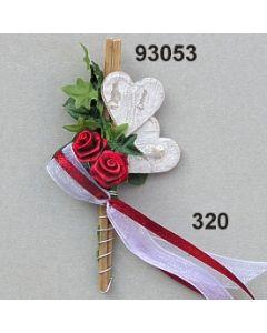 Doppel Herz Efeu Anstecker / weinrot / 93053.320
