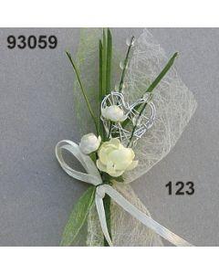 Edelrose mit Silber Anstecker / creme / 93059.123