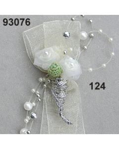 Organdi Rose mit Perl Anstecker / champagner / 93076.124