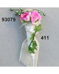Birkentüte mit Rosen Anstecker / azalee / 93079.411