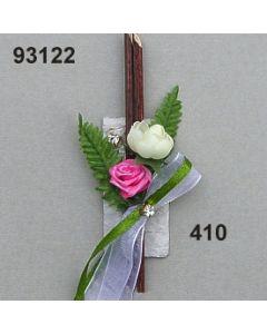 Rechteck mit Strass Anstecker / rosy / 93122.410