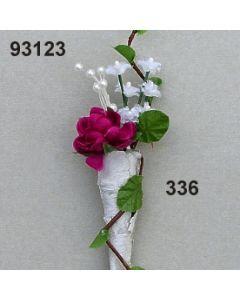 Birken-Tüte mit Ranke Anstecker / brombeer / 93123.336