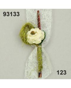 Busch Rose Sisal Anstecker / creme / 93133.123