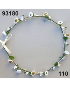 Blüten-Girlande am Draht / weiß / 93180.110