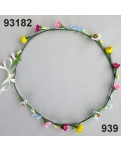 Blüten-Girlande am Draht / bunt / 93182.939