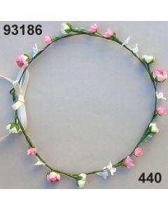 Blüten-Girlande am Draht / rosa-weiß / 93186.440
