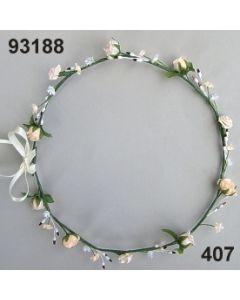Blüten-Girlande am Draht / lachs / 93188.407