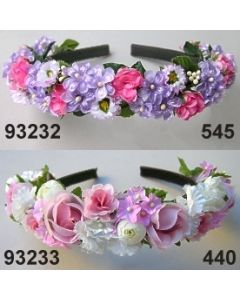 Flieder-Rosen Haarreif / lila-rosa / 93232.545