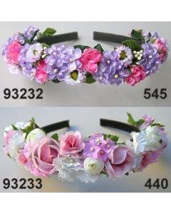 Rosen Ranunkel Haarreif / rosa-weiß / 93233.440