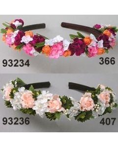 Gänseblümchen-Rosen Haarreif / lachs / 93236.407