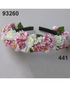 Bellis-Rosen Haarreif voll / rosa-champagner / 93260.441