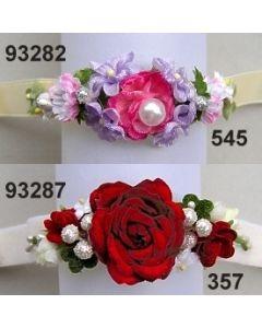 Rosen-Blüten Armband / weinrot-champagn / 93287.357