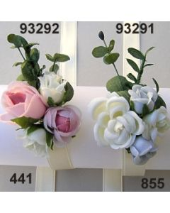 Rose-Eucalyptus Armband / grau-weiß / 93291.855