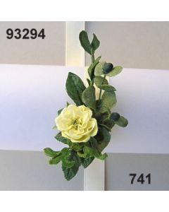 Röschen-Blätter Armband / grün-creme / 93294.741