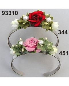 Rosen Vergißmeinnicht Metall Armreifen / 93310