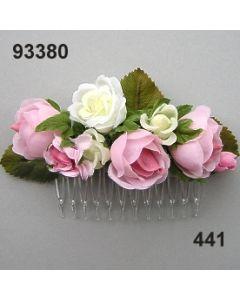 Rosen Haarkamm klein / rosa-champagner / 93380.441