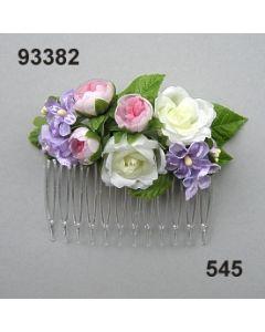 Rosen-Flieder Haarkamm / lila-rosa / 93382.545