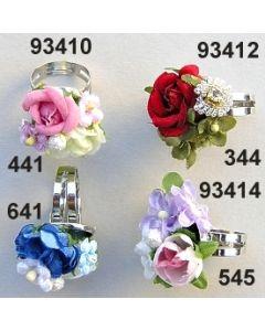 Rosen-Vergißmeinnicht Metall Ring / 93410