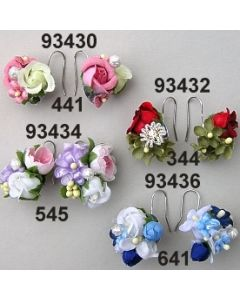 Rosen-Flieder Ohrringe  / lila-rosa / 93434.545
