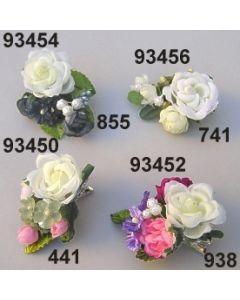 Rosen-Blüten Metal Clip / grün-creme / 93456.741