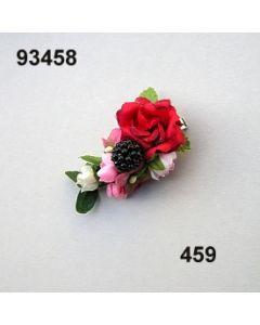 Rosen-Beere Metall-Clip / altrosa / 93458.459