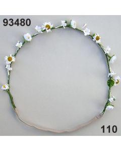 Blüten-Girlande mit Gummiband / weiß / 93480.110